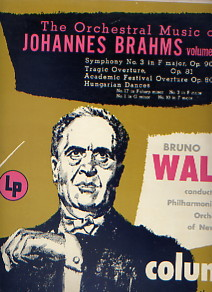 LP The Orchstral Music of JOHANNES BRAHMS volume3 Symphony No.3